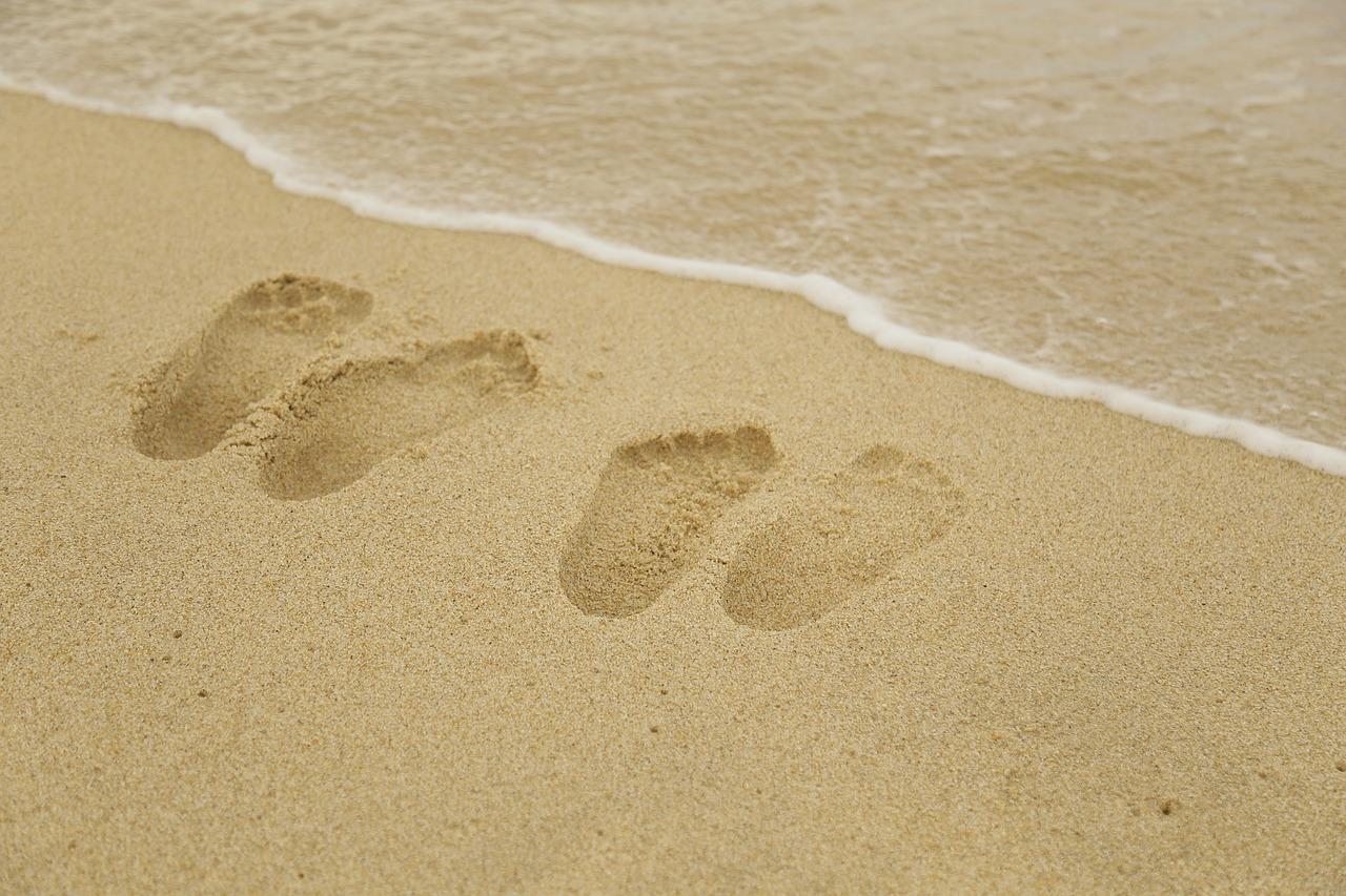 homok két lábnyom